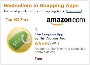 Amazon.com Mobile Coupons App
